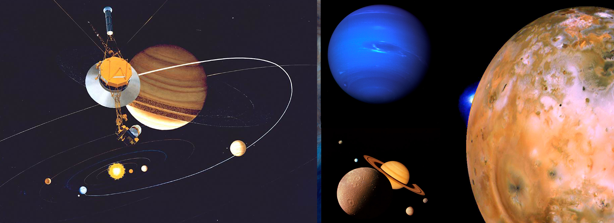 Voyager, Uranus, Neptune side by side