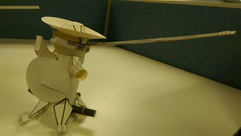 Cassini Paper Model Illustration