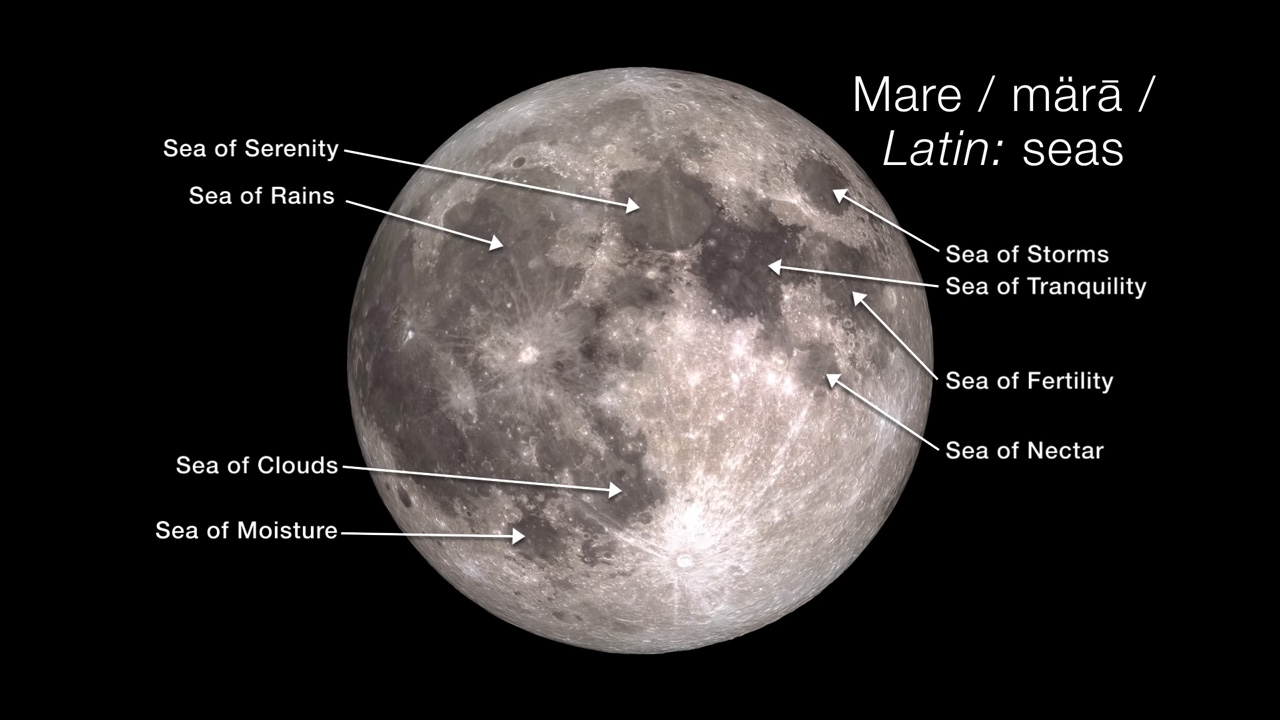 Map of the Mare on the Moon