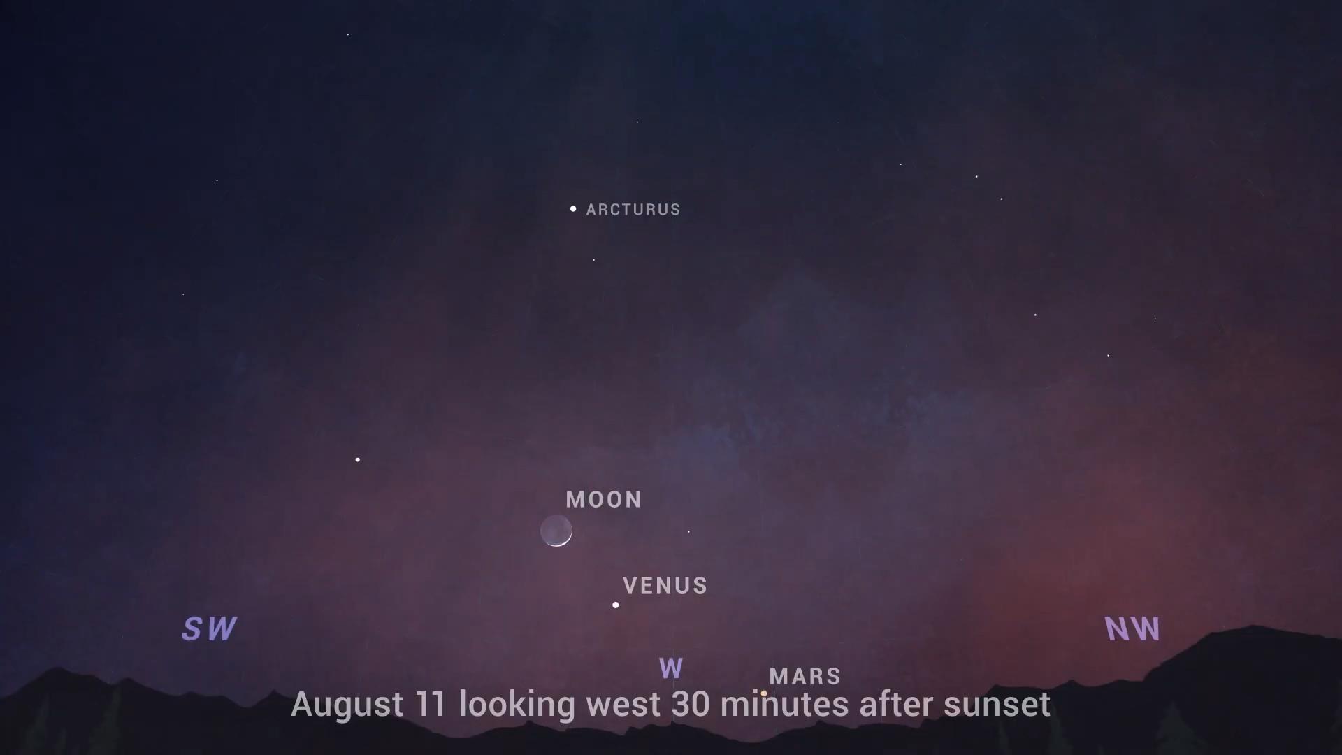 Moon Venus After Sunset