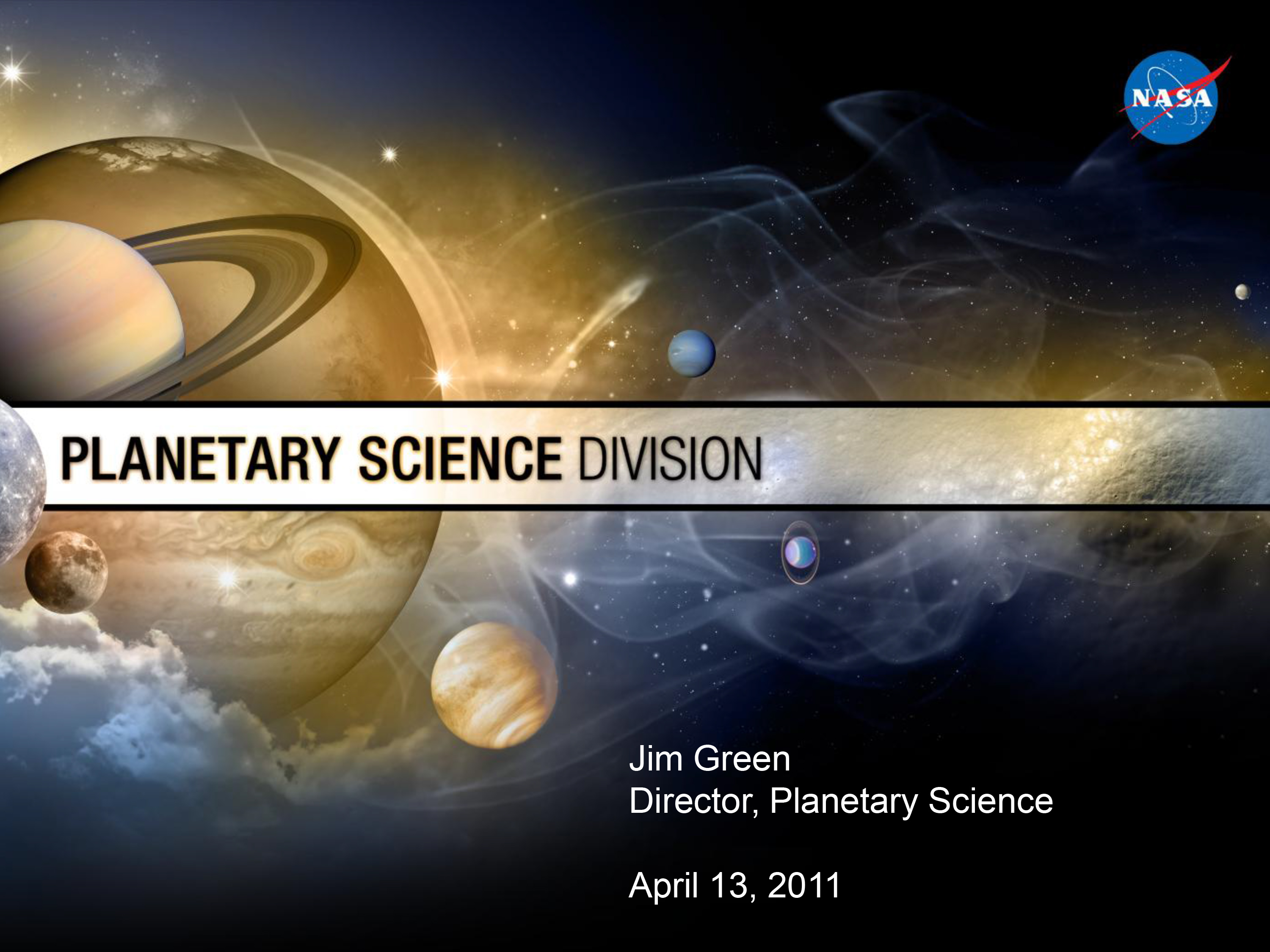 Presentation by Planetary Science Division Director Dr. Jim Green in Chicago.