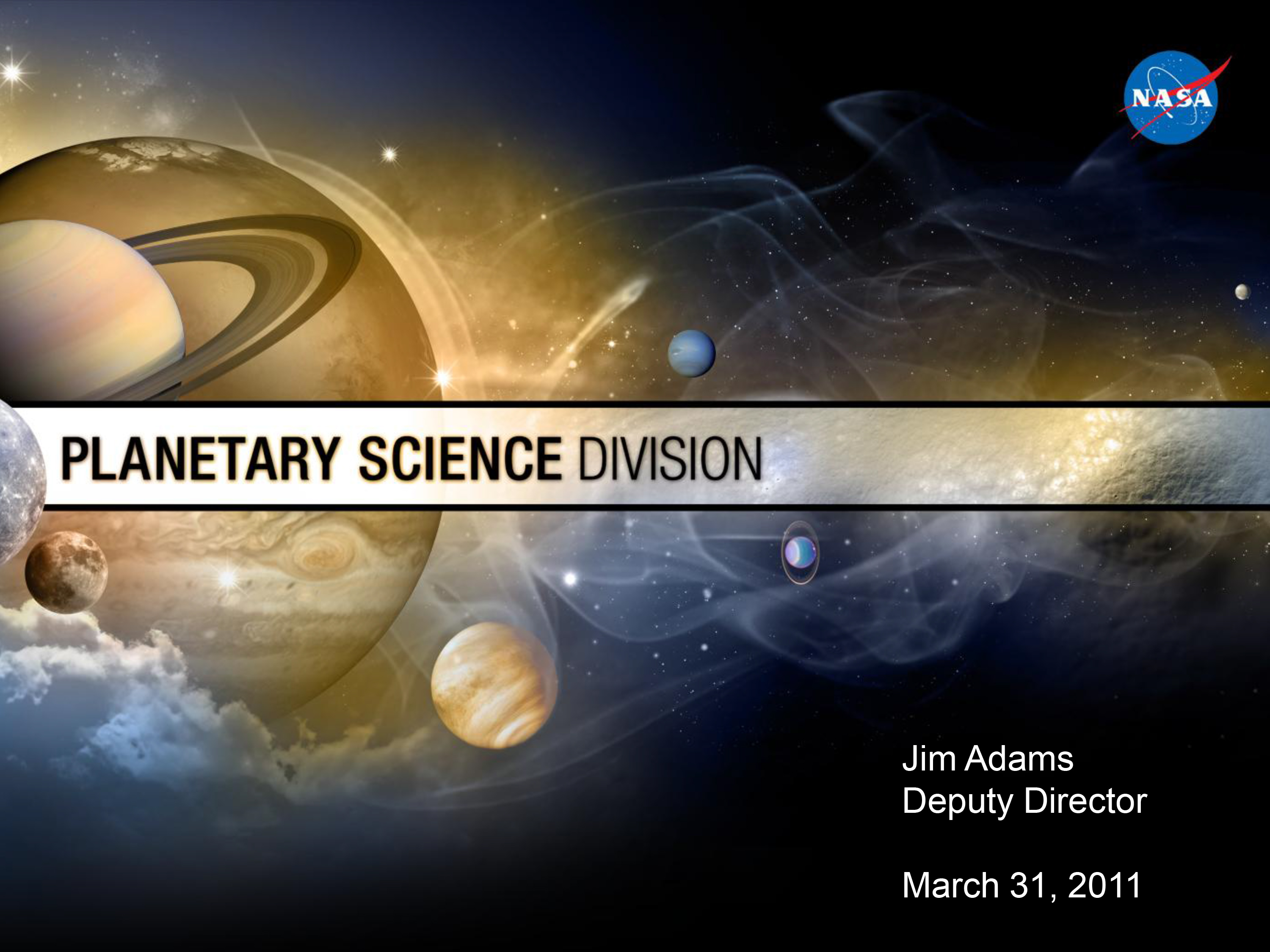 Presentation by Planetary Science Division Deputy Director Jim Adams at New York City Town Hall