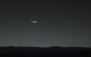 Bright 'Evening Star' Seen from Mars is Earth