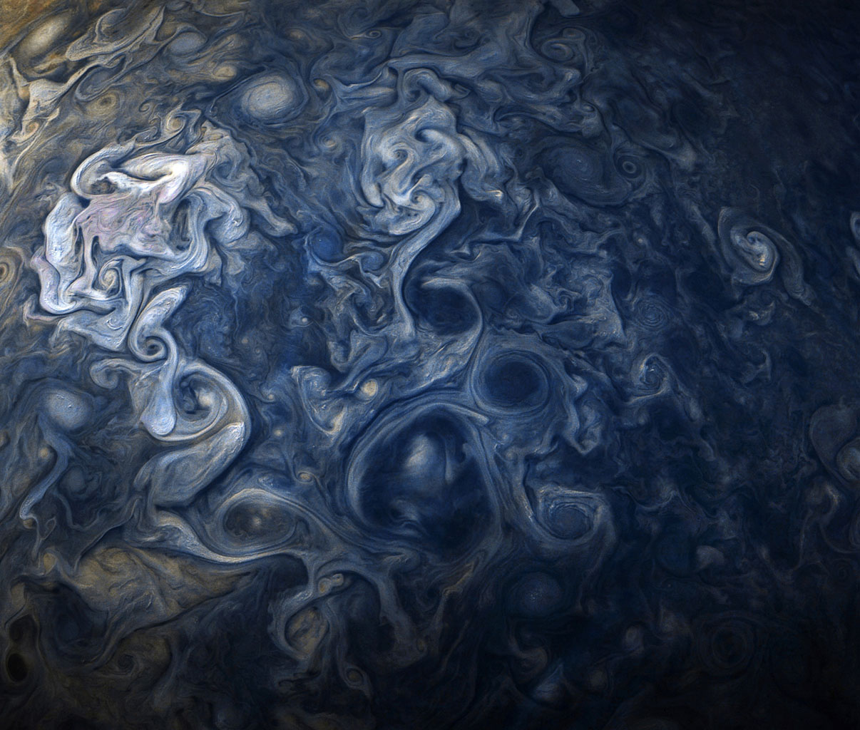 swirling cloud patterns
