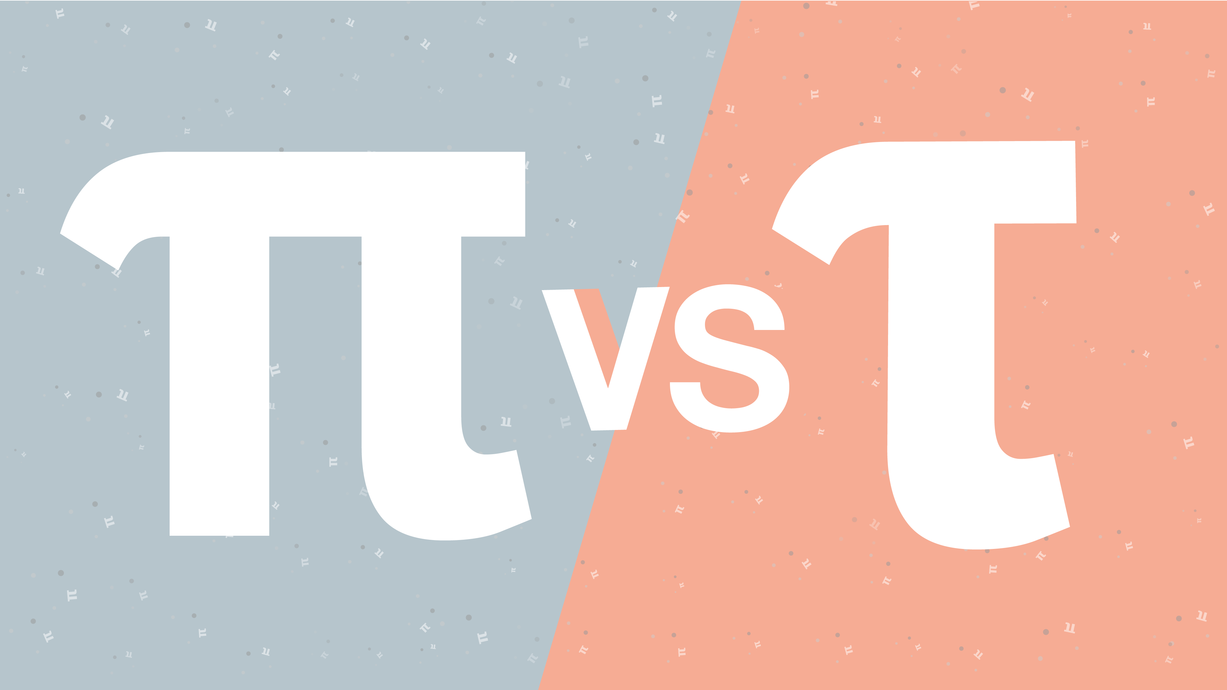 Pi versus Tau graphic