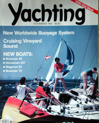 Magazine cover featuring Anne Kahle on her boat