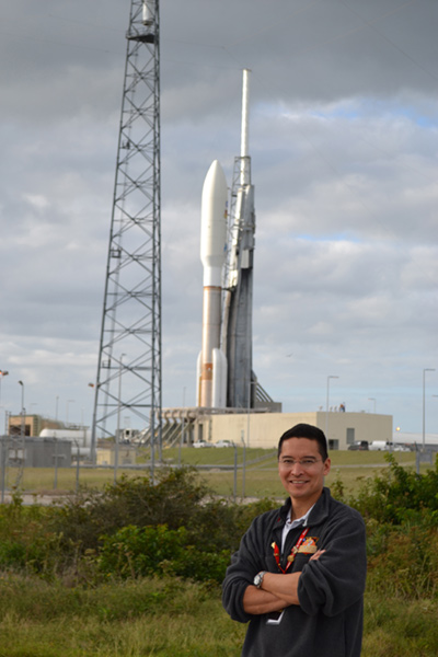Steve at the Atlas V rollout for Mars Science Laboratory.