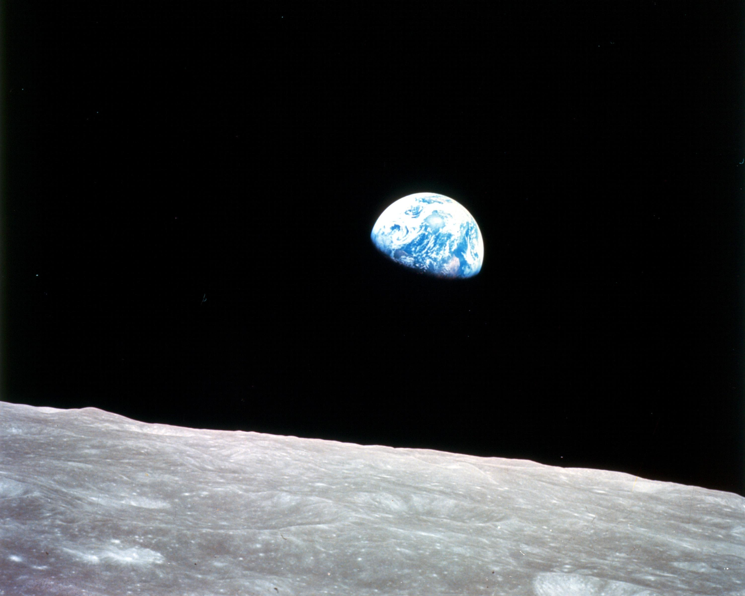 Apollo 8 Earthrise over the Moon