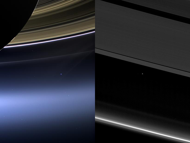 Cassini's views of Earth