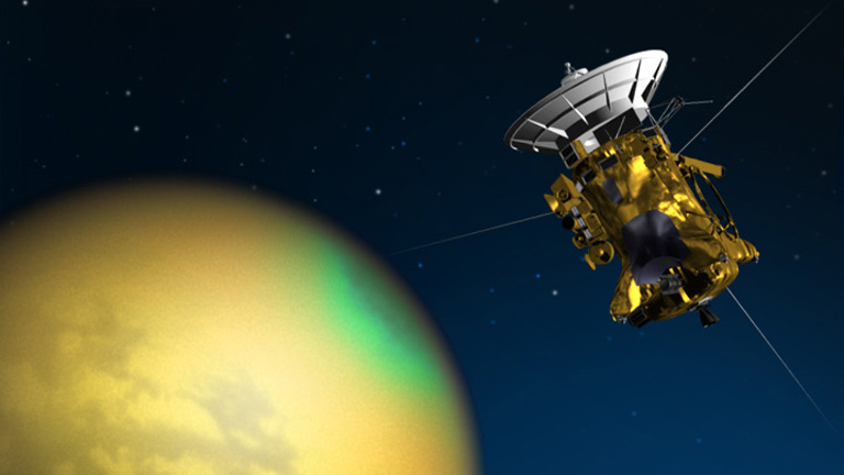 Cassini at Titan Artist's Illustration