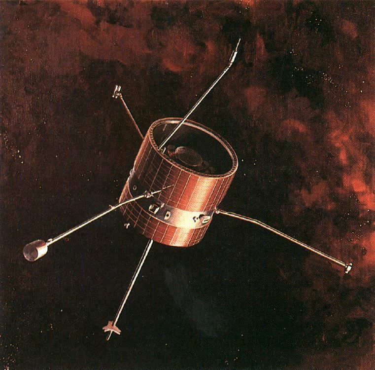 A Pioneer spacecraft in space