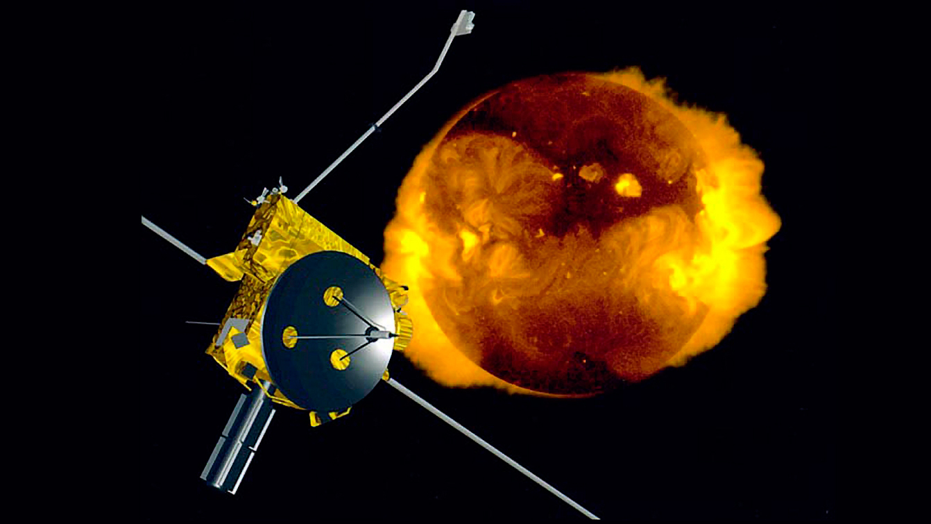 Artist's concept of Ulysses spacecraft.