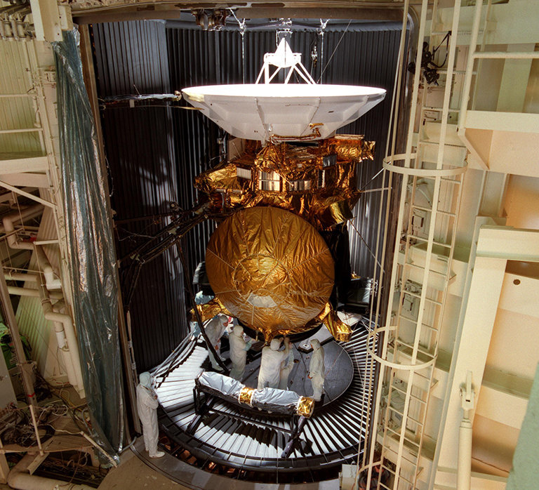 Color image of spacecraft.