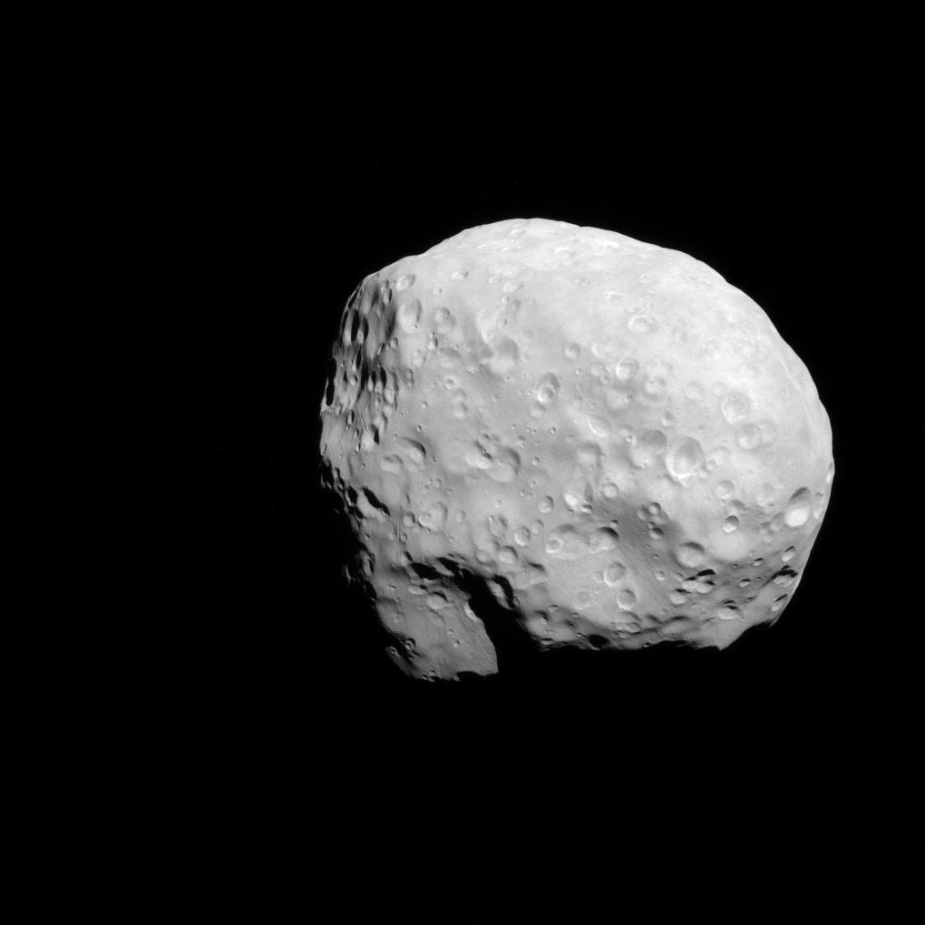 Image of Saturn moon, Epimetheus, taken by the Cassini spacecraft.
