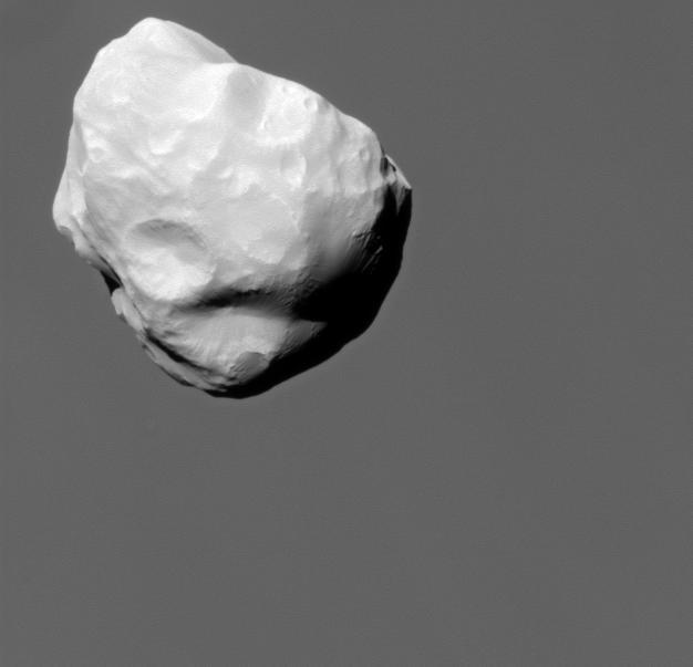 Image of moon Helene taken by the Cassini Spacecraft