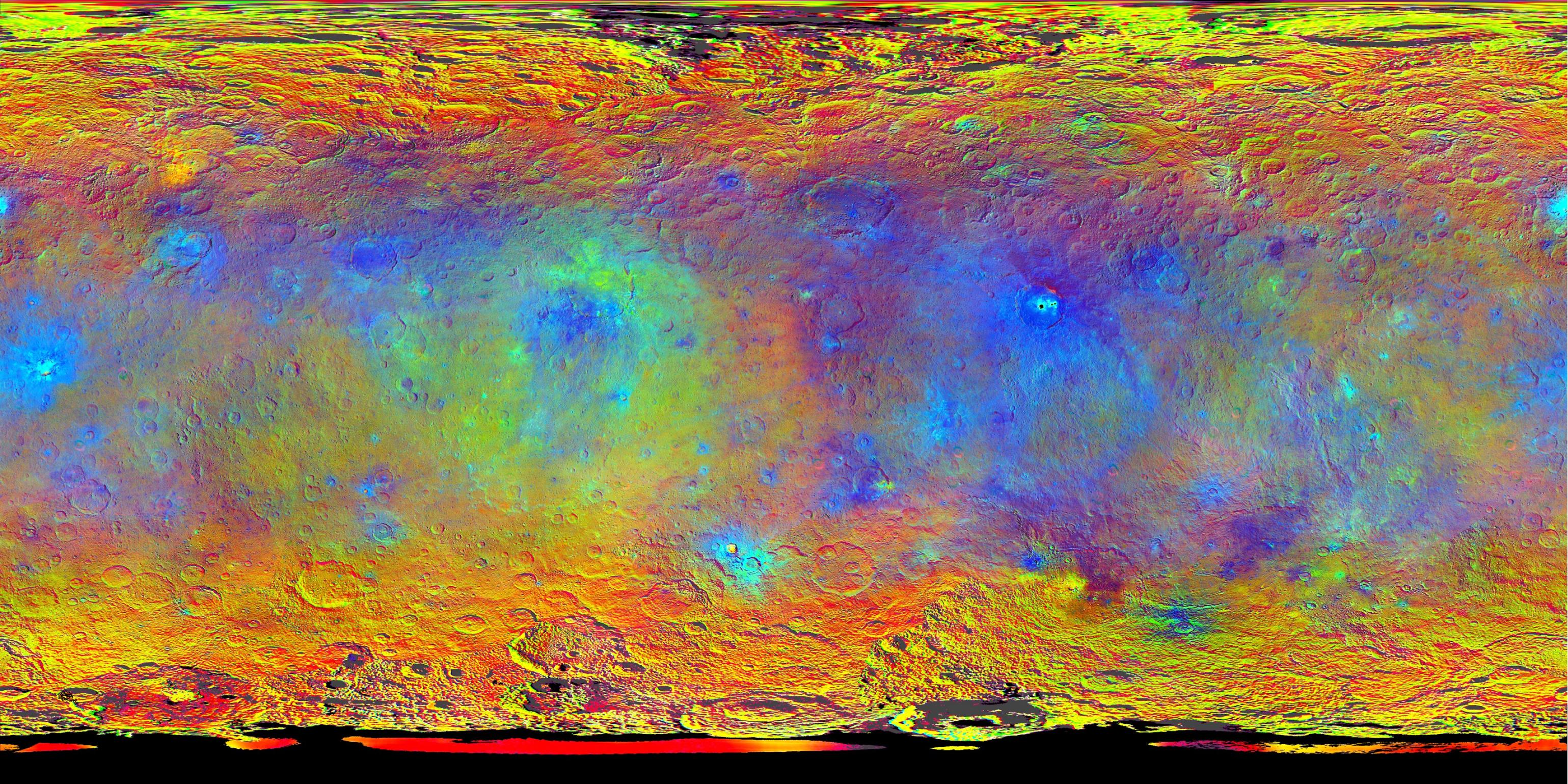 Hints At Ceres Composition From Color Multimedia Solar System - Nasa topographic map