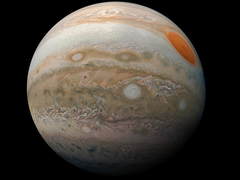 slide 1 - Chế độ xem toàn bộ đĩa sao Mộc do tàu vũ trụ Juno chụp