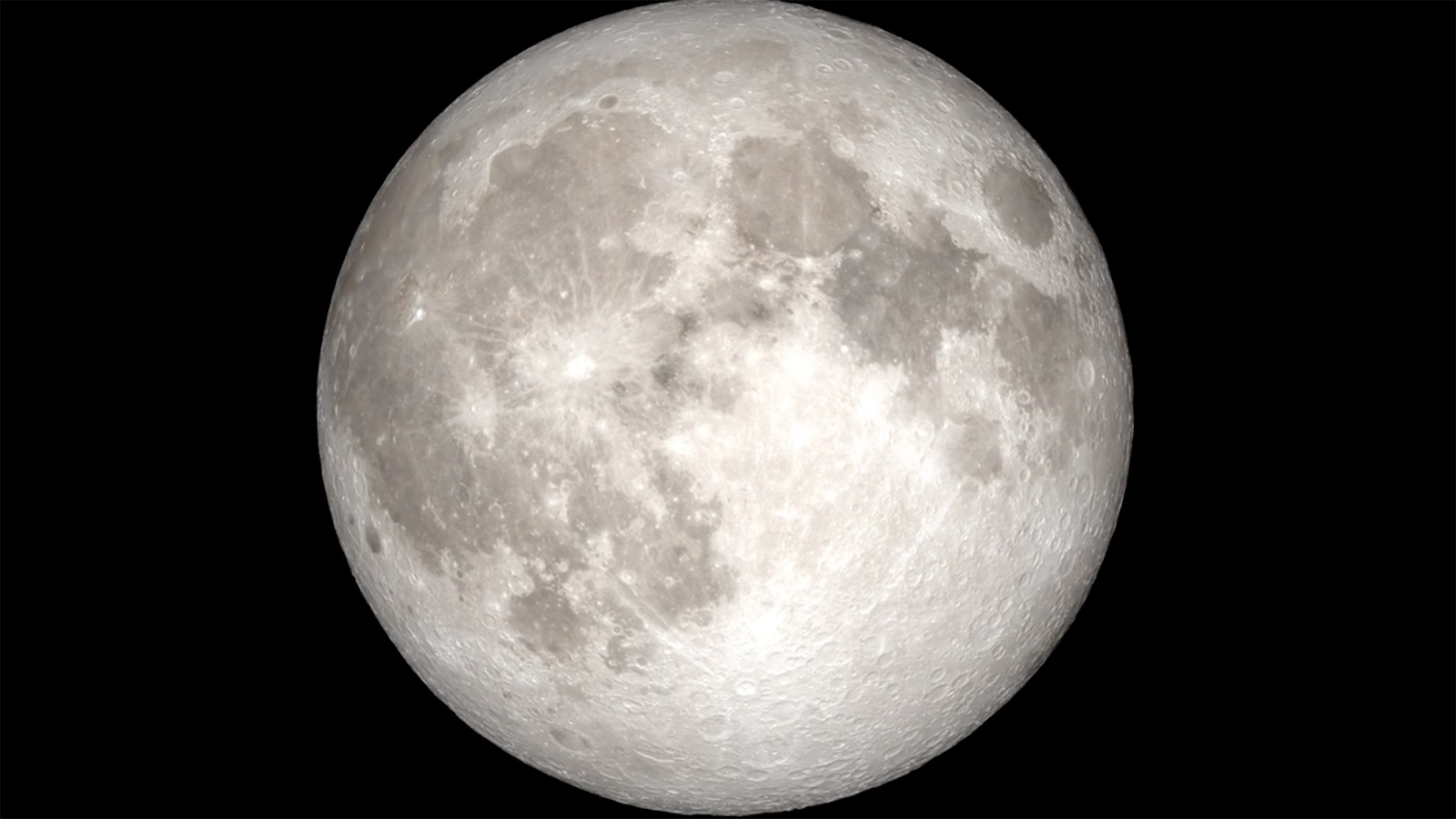 slide 3 - Animated view of the full disc of the Moon rotating in space.