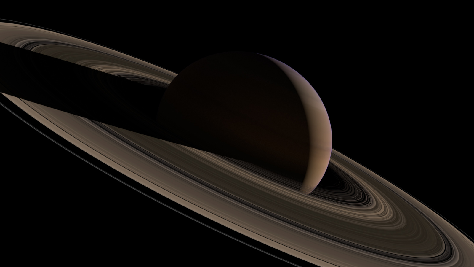 slide 4 - Sun rises over Saturn