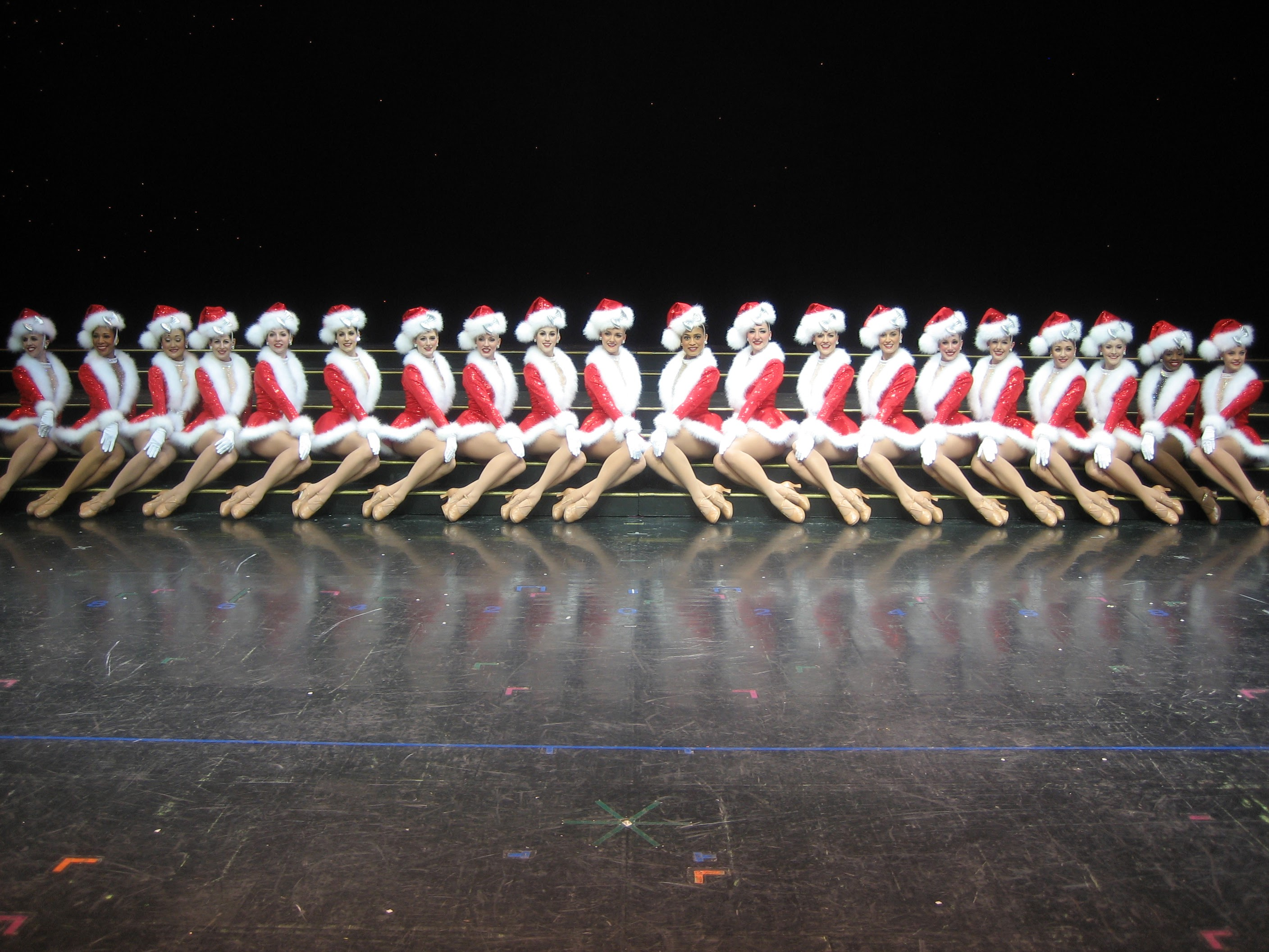 The Radio City Rockettes in 2009 (6th from the right)