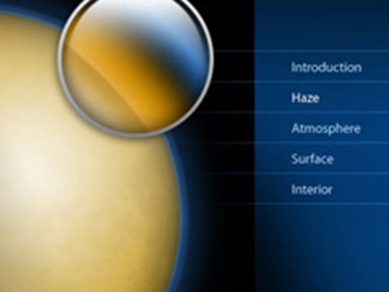 High in Titan's atmosphere, sunlight breaks apart methane, which reacts to form a thick haze. Cassini was designed to study and see through this haze.