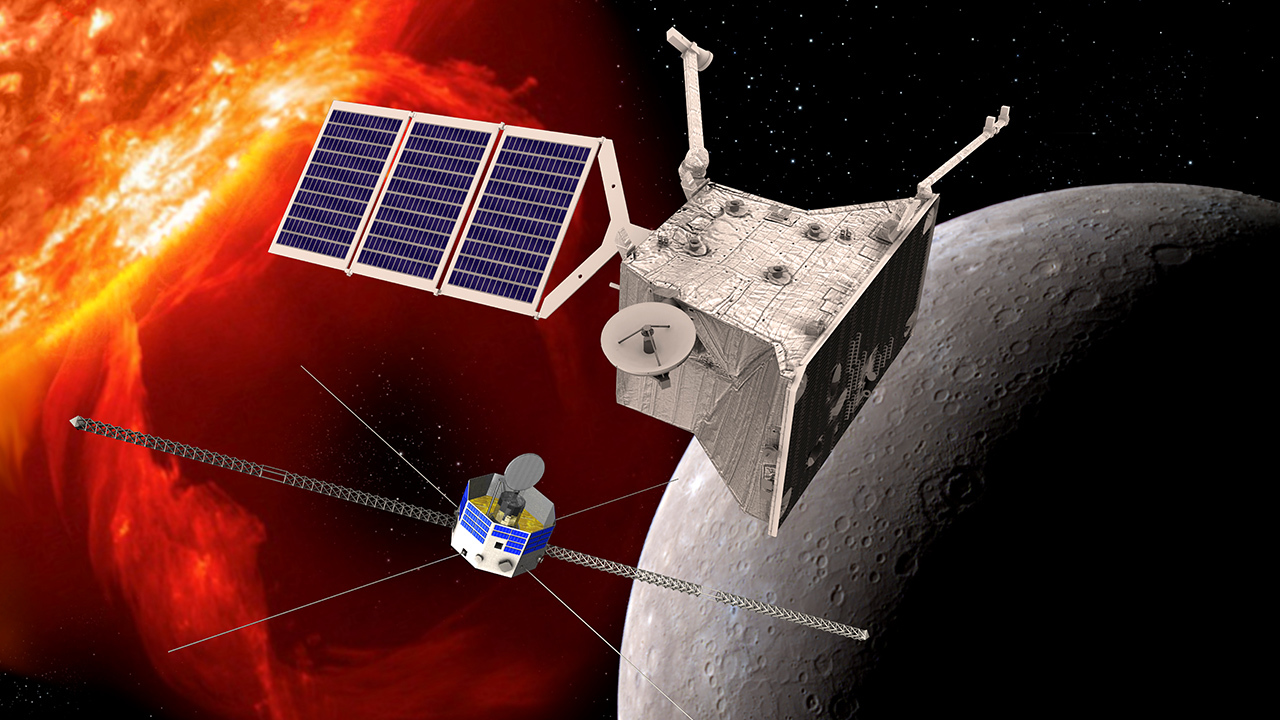 Artist's impression of BepiColombo mission to Mercury Image Credit/Copyright: ESA