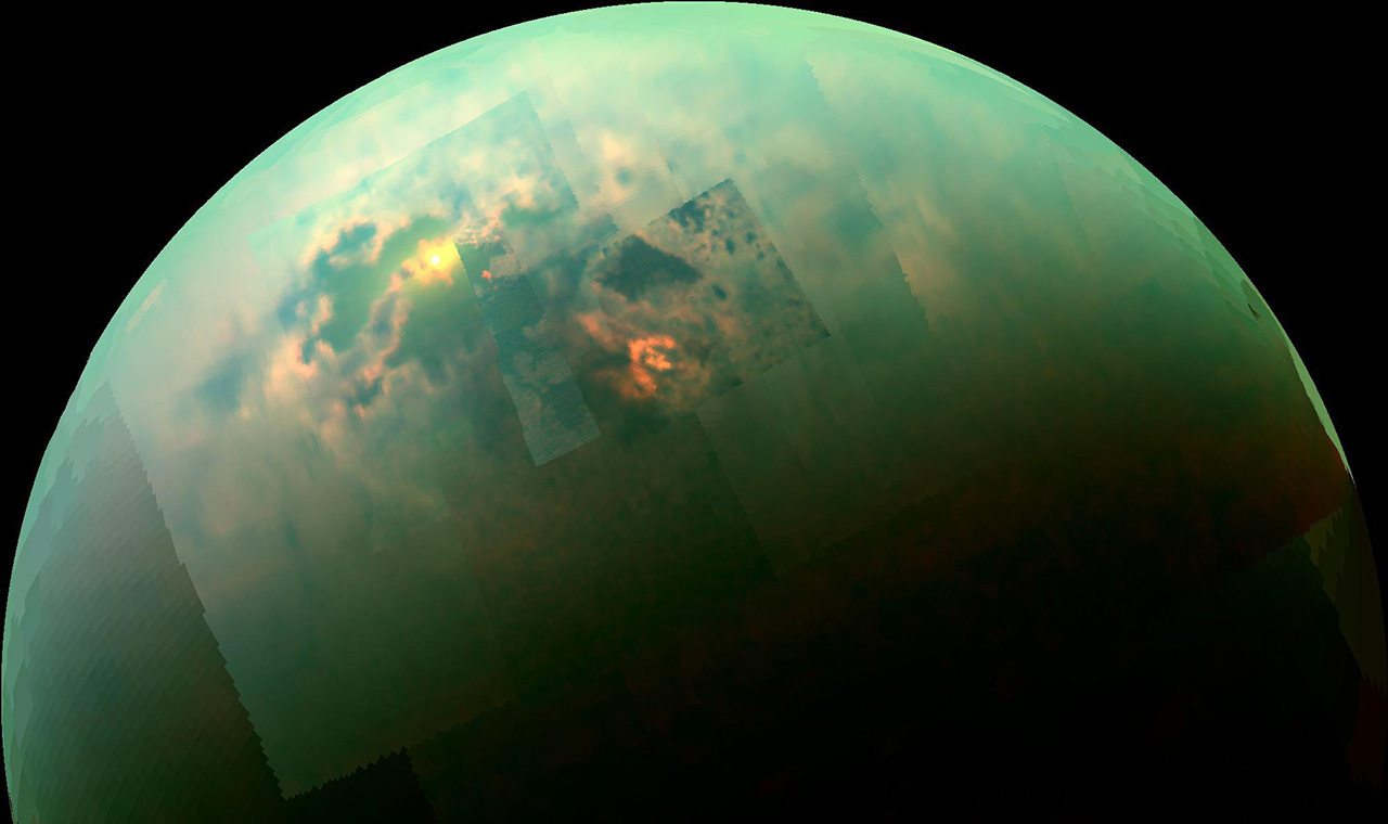 Enhanced color image of Titan.