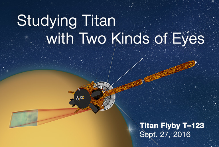Artist's rendition of Titan flyby T-123