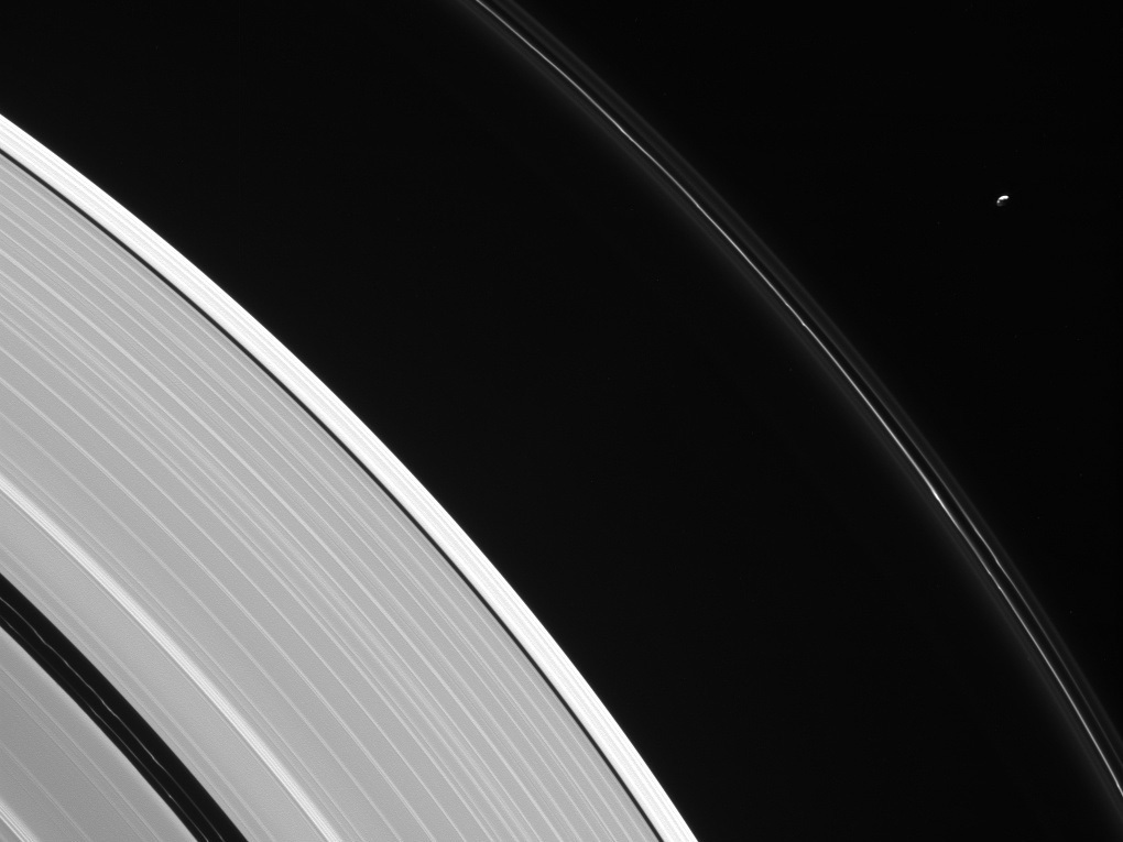 Saturn's rings and Pandora
