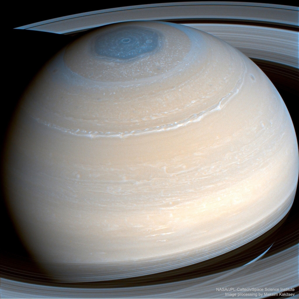 Saturn and its magnificent rings