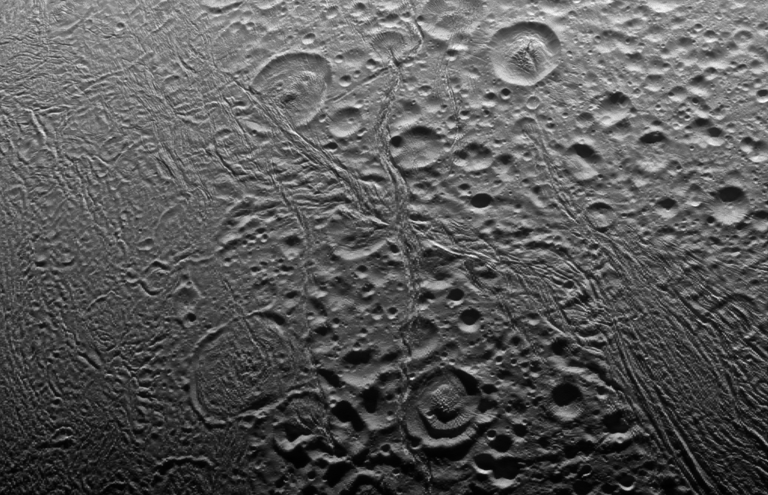 North polar area of Enceladus