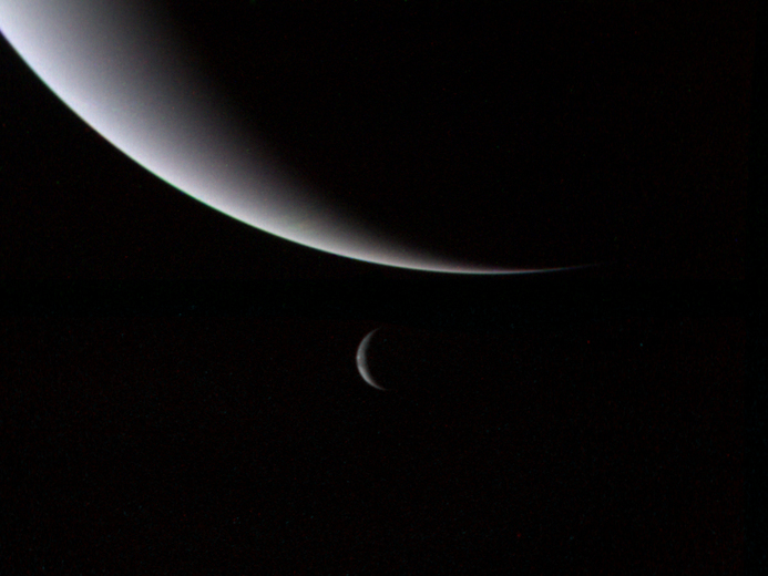 crescent neptune and small triton