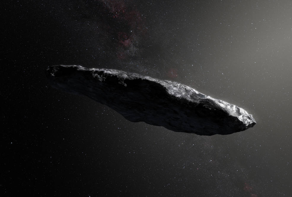 'Oumuamua, the first interstellar object seen in our solar system