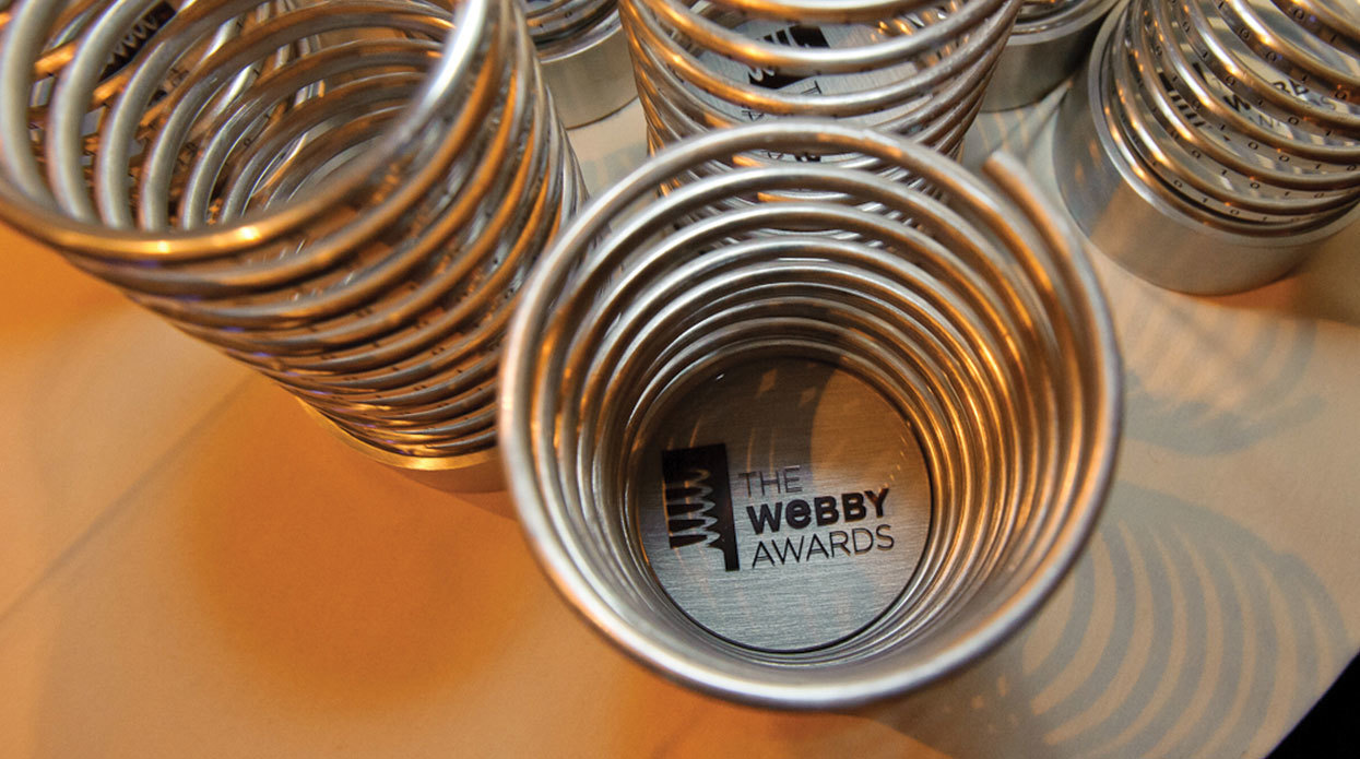 Webby Award Trophies