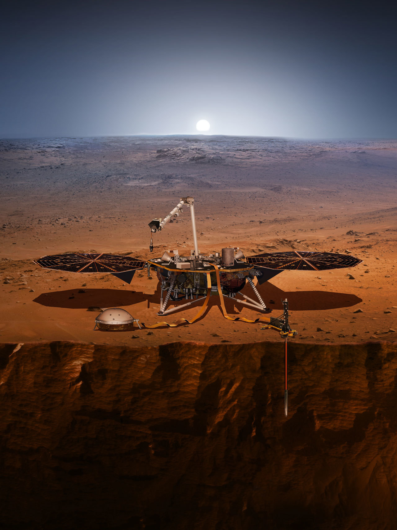 illustration of lander on mars