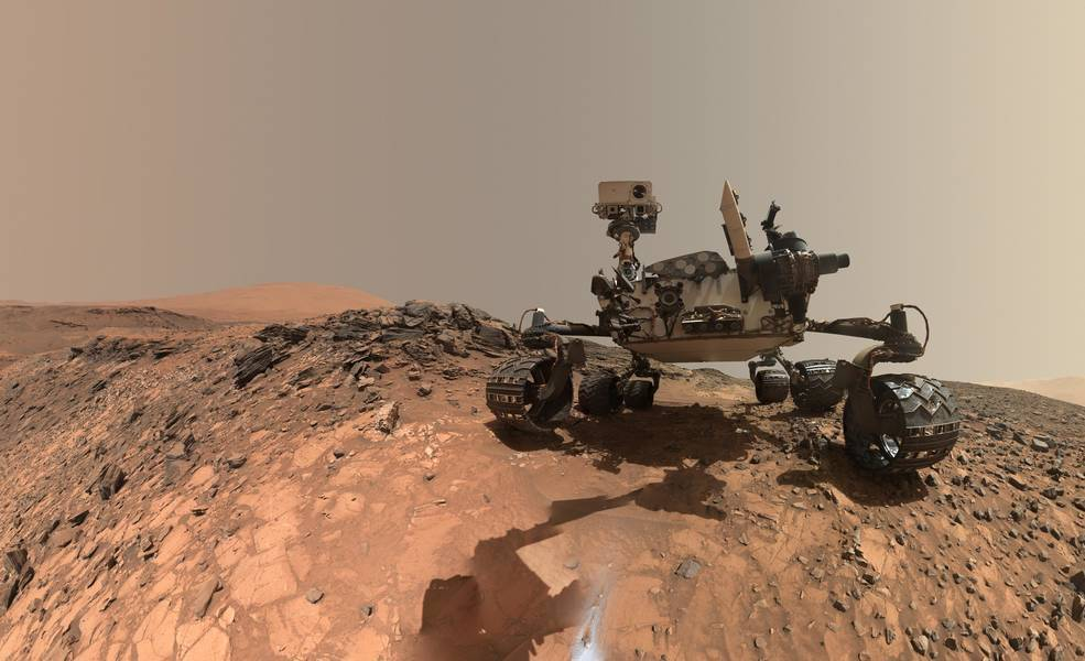 rover on mars surface