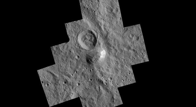 Ahuna Mons Seen from LAMO