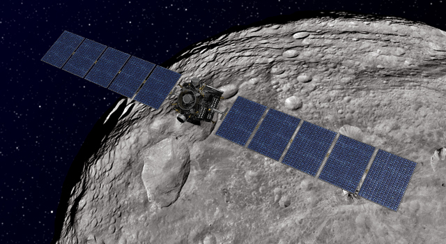Dawn Orbiting Vesta