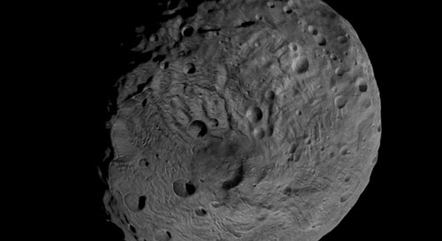 Viewing the South Pole of Vesta