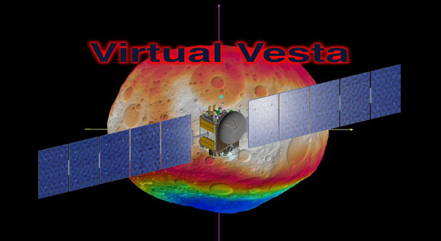 This video shows the scientists' best guess to date of what the surface of the protoplanet Vesta