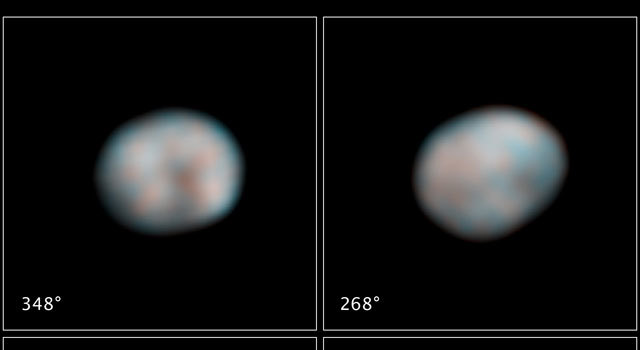 Hubble Space Telescope snapped these images of the asteroid Vesta in preparation for the Dawn spacecraft's visit in 2011.