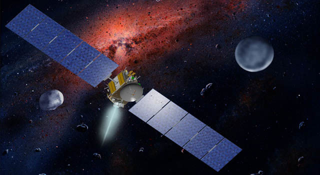 Artist's concept of Dawn spacecraft