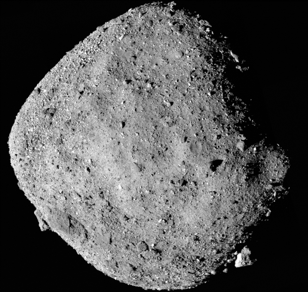 rocky surface of asteroid