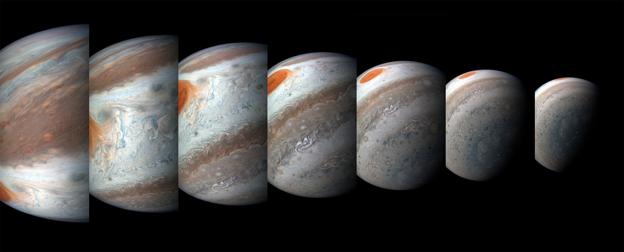 several views of jupiter's atmosphere