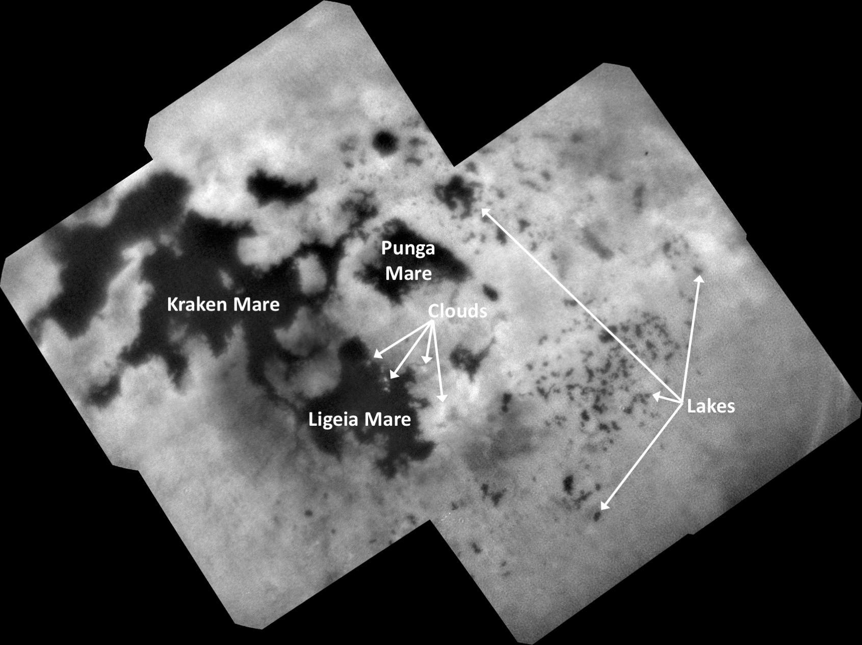 Cassini's Final View of Titan's Northern Lakes and Seas – NASA Solar System Exploration