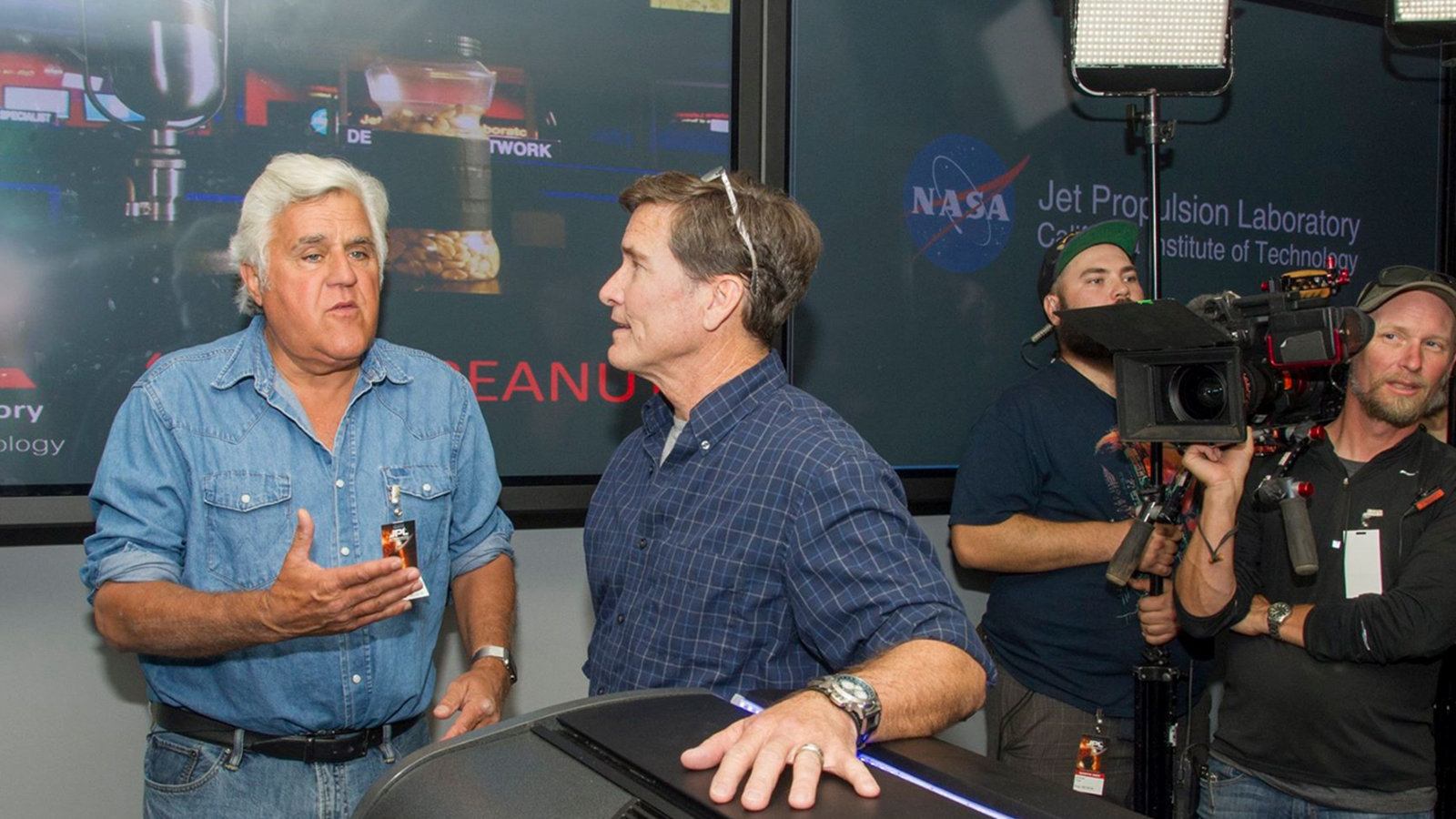Jim McClure talks to comedian Jay Leno