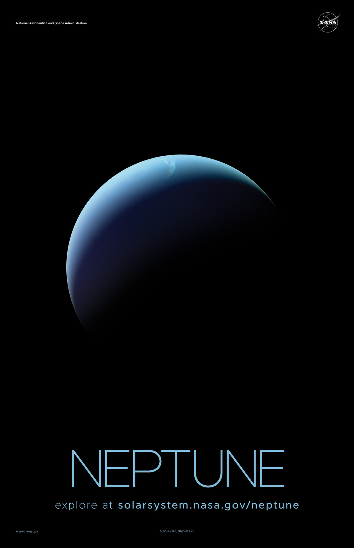 Crescent view of Neptune.