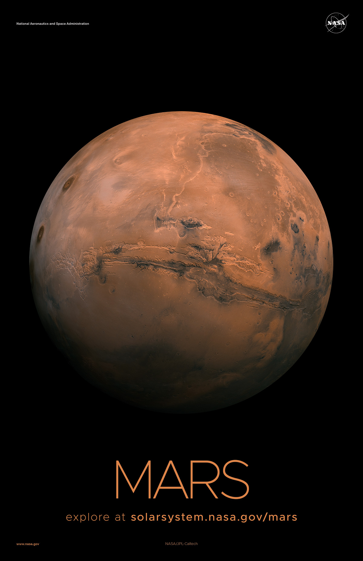 Full disk view of Mars.