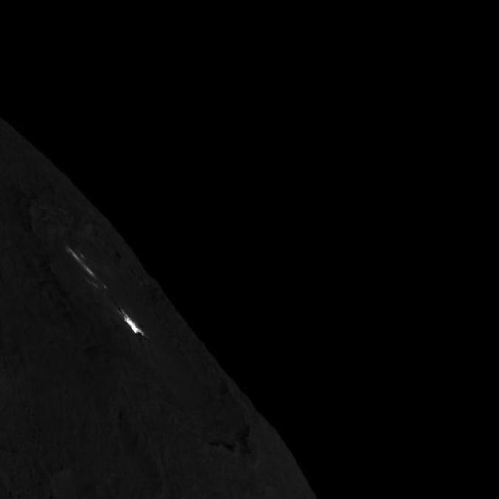 Occator Crater on Ceres' Limb -- Short Exposure