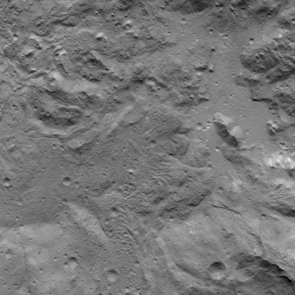 Fracture Network in Occator Crater
